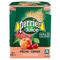 Perrier PERRIER & Juice Pêche/cerise Pk4x25cl