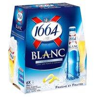 1664 1664 BLANC Bière 5° Pack 6x25cl