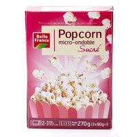 Pop BELLE FRANCE Pop corn sucré micro ondable 3x90g