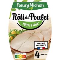 Fleury Michon F MICHON Le Rôti de Poulet cuit 4tr 160g