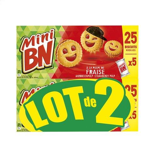 BN BN mini fraise Lt2x175g